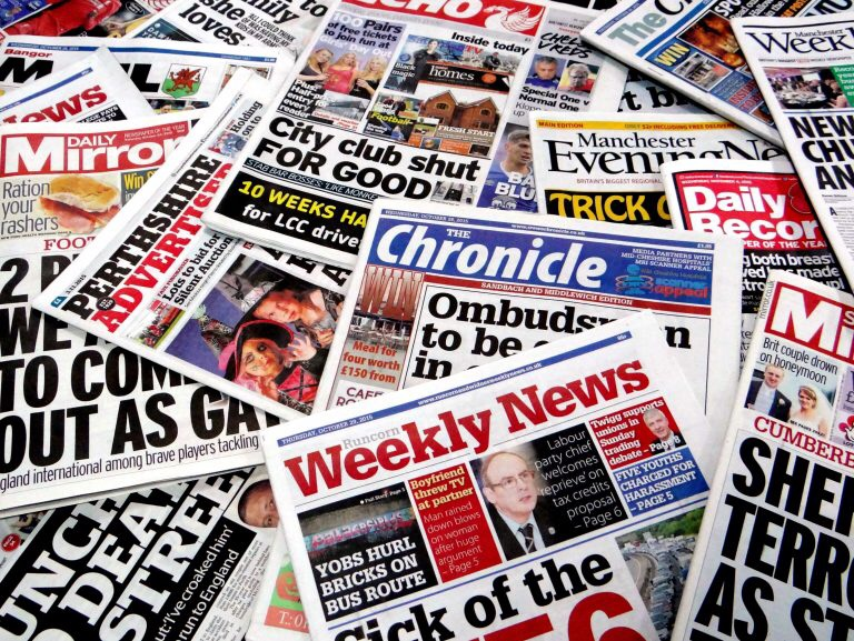 local newspapers